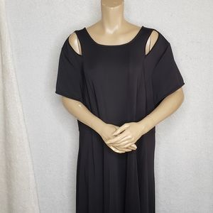 Lane Bryant midi dress black short sleeve size 26
